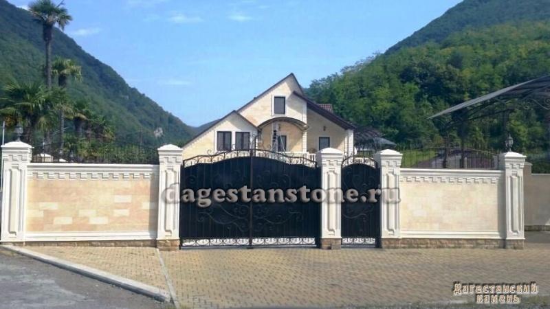 Заборы из дагестанского камня